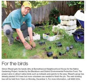 Bennettswood NH Final Report - Attachment 3 - Melbourne Weekly Eastern 29-11-2011